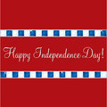 Happy independence day card in vector format Stock Image