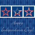 Happy independence day card in vector format Royalty Free Stock Image