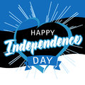 Happy Independence Day Estonia heart and beams greeting card