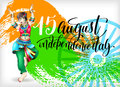 Happy independence day of india greeting card