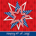 Happy independence day patterned star card in vector format Stock Photos