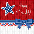 Happy independence day ribbon card in vector format Royalty Free Stock Images