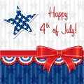 Happy independence day ribbon card in vector format Stock Photos