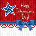 Happy independence day ribbon card in vector format Royalty Free Stock Photography