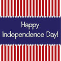 Happy independence day star card in vector format Royalty Free Stock Photography