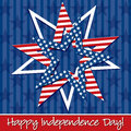 Happy independence day star card in vector format Royalty Free Stock Images