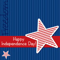 Happy independence day star cut out card in vector format Stock Photos