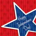 Happy independence day star cut out card in vector format Royalty Free Stock Photo