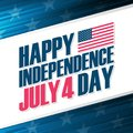 Happy Independence Day, 4th of july greeting card. United States national holiday. Royalty Free Stock Photo
