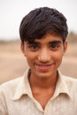 Happy Indian boy near Karauli in India Stock Image