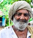 Happy Indian villager Stock Photography