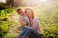 Happy interracial family Royalty Free Stock Photo