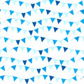 Happy Israel Independence Day seamless pattern with flags and bunting. Jewish Holidays endless background, texture