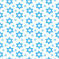 Happy Israel Independence Day seamless pattern with flags and bunting. Jewish Holidays endless background, texture Royalty Free Stock Photo