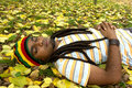 Happy Jamaican sleeping Royalty Free Stock Image