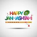 Happy Janmashtami greeting card design