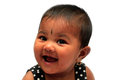 Happy & joyful healthy indian baby girl smiling Royalty Free Stock Photos
