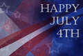 Happy July 4th background design with stripes and stars in red white and blue colors and abstract design Royalty Free Stock Photo