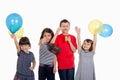Happy kids celebrating Eid El Fitr Royalty Free Stock Photo