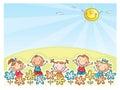 Happy kids outdoors