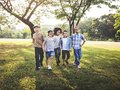 Happy kids in the park Royalty Free Stock Photo