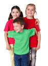 Happy kids standing together Royalty Free Stock Photo