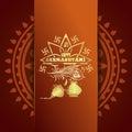 Happy Krishna Janmashtami. Greeting card