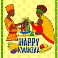 Happy Kwanzaa greetings for celebration of African American holiday festival harvest