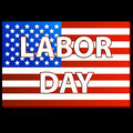 Happy Labor day american Stock Images