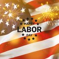 Happy Labor day banner, american patriotic background. Independence day of America Royalty Free Stock Photo