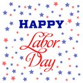 Happy Labor Day card. National american holiday illustration. Festive poster or banner with hand lettering