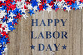 Happy Labor Day message with stars Royalty Free Stock Photo