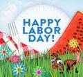 Happy Labor Day Picnic Art