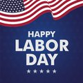Happy Labor day vector illustration Royalty Free Stock Photo