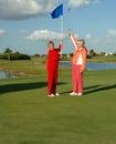 Happy Lady Golfers Celebrate