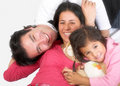 Happy latin american family Royalty Free Stock Image