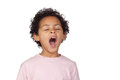 Happy latin child yawning Royalty Free Stock Image