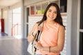 Happy Latin college student Royalty Free Stock Photo
