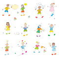 Happy learning kids Stock Images