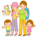 Happy Leaving the family trip. Home and Family Character Design Royalty Free Stock Photos