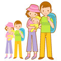 Happy Leaving the family trip. Home and Family Character Design Stock Images