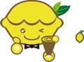 Happy lemon cartoon image Royalty Free Stock Images