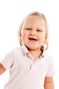 Happy little child posing in studio Royalty Free Stock Photo