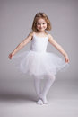 Happy little girl in dress ballerina Royalty Free Stock Photo