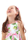 Happy little girl laughing Royalty Free Stock Photo