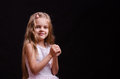 Happy little girl make a wish Royalty Free Stock Photo