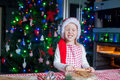 Happy little girl with rolling pin baking Royalty Free Stock Photo