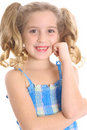 Happy little girl thinking Royalty Free Stock Photography
