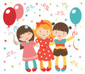 Happy little girls having a party Royalty Free Stock Photo
