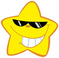 Happy little star with sunglasses Royalty Free Stock Image